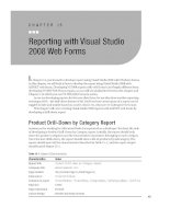 Reporting with Visual Studio 2008 Web Forms.