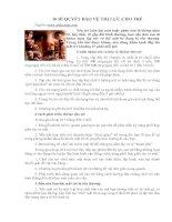 16 BÍ QUYẾT BẢO VỆ THN LỰC CHO TRẺ