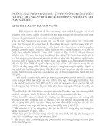 NHỮNG GIẢI PHÁP NHẰM GIẢI QUYẾT NHỮNG THÁCH THỨC VÀ THÚC ĐẨY NHANH QUÁ TRèNH HỘI NHẬP KINH TẾ CỦA VIỆT NAM VÀO AFTA