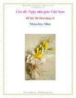 Chủ đề: Ngày nhà giáo Việt Nam - Đề tài: Bó Hoa tặng cô - Nhóm lớp: Mầm