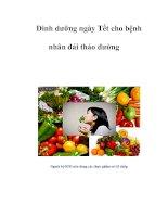 Dinh dưỡng ngày Tết cho bệnh nhân đái tháo đường