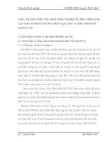 THỰC TRẠNG CÔNG TÁC KHAI THÁC NGHIỆP VỤ BẢO  HIỂM XNK VẬN CHUYỂN BẰNG ĐƯỜNG BIỂN TẠI CÔNG TY BẢO HIỂM DẦU KHÍ HÀ NỘI