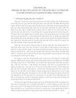 MỐI QUAN HỆ GIỮA KINH TẾ VỚI GIÁO DỤC VÀ MỘT SỐ VẤN ĐỀ CƠ BẢN CỦA KINH TẾ HỌC GIÁO DỤC