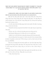 MỘT SỐ GIẢI PHÁP NHẰM HOÀN THIỆN NGHIỆP VỤ THANH TOÁN ĐIỆN TỬ TẠI NGÂN HÀNG CÔNG THƯƠNG KHU VỰC II  HAI BÀ TRƯNG