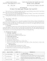 Kế hoạch tổ chức kỷ niệm 28 năm ngày nhà giáo việt nam 20/11