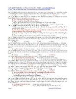 Tuyển tập đề thi đại học cao đẳng các năm (theo chủ đề)