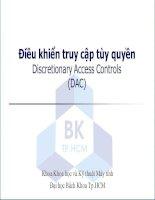 mô hình bảo mật cơ sở dữ liệu Điều khiển truy cập tùy quyền