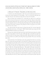 LÝ LUẬN CHUNG VỀ QUẢN LÝ NHÀ NƯỚC TRONG LĨNH VỰC TIÊU CHUẨN HOÁ CHẤT LƯỢNG NÔNG SẢN - THỰC PHẨM
