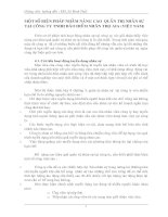 MỘT SỐ BIỆN PHÁP NHẰM NÂNG CAO QUẢN TRỊ NHÂN SỰ TẠI CÔNG TY TNHH BẢO HIỂM NHÂN THỌ AIA