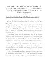 THỰC TRẠNG CỦA VẤN ĐỀ NÂNG CAO CHẤT LƯỢNG TÍN DỤNG ĐỐI VỚI DOANH NGHIỆP TƯ NHÂN TẠI NGÂN HÀNG VP BANK CHI NHÁNH DÃ TƯỢNG - HOÀN KIẾM - HÀ NỘI TỪ NĂM 2006 ĐẾN NAY