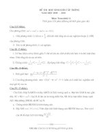 Đề thi HSG môn Toán lớp 11