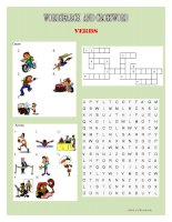 wordsearch and crossword - verbs