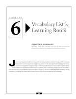 Vocabulary List 3 - Learning roots