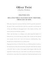 LUYỆN ĐỌC TIẾNG ANH QUA TÁC PHẨM VĂN HỌC-Oliver Twist -Charles Dickens -CHAPTER 30