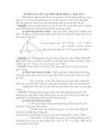 Hướng dẫn ôn tập Hình học 9 Học kỳ I ( Dành cho học sinh)