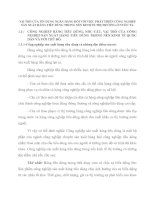 VAI TRÒ CỦA TÍN DỤNG NGÂN HÀNG ĐỐI VỚI VIỆC PHÁT TRIỂN CÔNG NGHIỆP SẢN XUẤT HÀNG TIÊU DÙNG TRONG NỀN KINH TẾ THỊ TRƯỜNG Ở NƯỚC TA