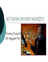 Bài giảng điện tử: Kế toán doanh nghiệp 2 (Chương 6)