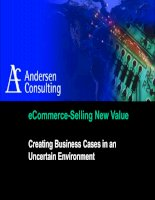 eCommerce-Selling New Value: Creating Business Cases in an Uncertain Environment.