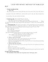 Cách viết mở bài hay trong văn nghị luận  9