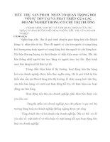 TIÊU  THỤ  SẢN PHẨM  NHÂN TỐ QUAN TRỌNG ĐỐI VỚI SỰ TỒN TẠI VÀ PHÁT TRIỂN CỦA CÁC ĐOANH NGHIỆP TRONG CƠ CHẾ THỊ TRƯỜNG