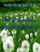 Tiet 10: Ôn tập bài hát Những bông hoa những bài ca, Giới thiệu nhac cụ nuóc ngoài