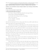QUÁ TRÌNH HÌNH THÀNH VÀ PHÁT TRIỂN CHI NHÁNH CÔNG TY CỔ PHẦN GIAO NHẬN KHO VẬN NGOẠI THƯƠNG HẢI PHÒNG