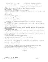 thi thử TN toán 12 _ Đức Tâm