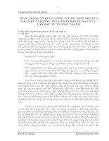 THỰC TRẠNG TỔ CHỨC CÔNG TÁC KẾ TOÁN NGUYÊN VẬT LIỆU TẠI CÔNG TY CỔ PHẦN XÂY DỰNG VÀ TƯ VẤN ĐẦU TƯ TRƯỜNG THÀNH