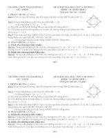 Đề kiểm tra 1 tiết Hình học 11 chương I
