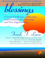 Blessing in advesity