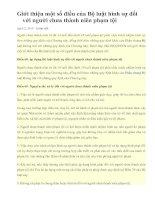 LUẬT HÌNH SỰ VỚI THIẾU NIÊN SỮA ĐỔI ( MỚI -April 2, 2010  )