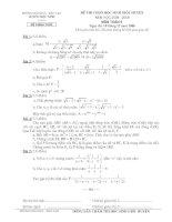 Đề thi HSG Toán 9 (có đáp án)