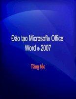 Huong dan dung Microsoft Office Word 2007