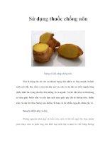 Sử dụng thuốc chống nôn
