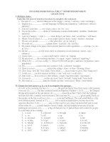 Ôn tập tiếng Anh 9-Học kỳ I