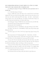QUÁ TRÌNH HÌNH THÀNH VÀ PHÁT TRIỂN CỦA CÔNG TY TNHH NHÀ NƯỚC MỘT THÀNH VIÊN CƠ KHÍ HÀ NỘI
