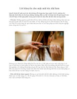Lời khuyên cho một mái tóc dài hơn