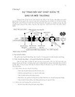 SỰ TRAO ĐỔI VẬT CHẤT GIỮA TẾ BÀO VÀ MÔI TRƯỜNG
