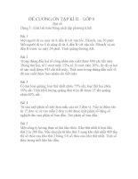 Một số bài tập ôn tập học kì 2 Đại số 8