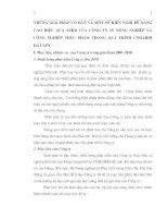 NHỮNG GIẢI PHÁP CƠ BẢN VÀ MỘT SỐ KIẾN NGHỊ ĐỂ NÂNG CAO HIỆU QUẢ SXKD CỦA CÔNG TY IN NÔNG NGHIỆP VÀ CÔNG NGHIỆP THỰC PHẨM TRONG QUÁ TRÌNH CNH-HĐH ĐẤT NƯỚC