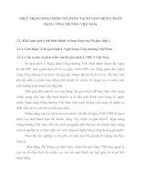 THỰC TRẠNG HOẠT ĐỘNG TÍN DỤNG TẠI SỞ GIAO DỊCH I  NGÂN HÀNG CÔNG THƯƠNG VIỆT NAM