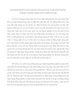 GIẢI PHÁP PHÒNG NGỪA RỦI RO TÍN DỤNG TẠI  NGÂN HÀNG NÔNG NGHIỆP VÀ PHÁT TRIỂN NÔNG THÔN HÀ NỘI