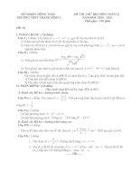 ĐỀ SỐ 1 THI HKI KHỐI 12 - ĐỒNG THÁP