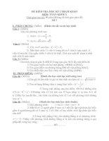 2 đề kiểm tra Học kỳ I Môn Toán lớp 11 tham khảo và đáp án số 3 +4