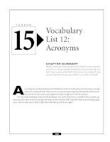 Vocabulary list 12 - Acronyms