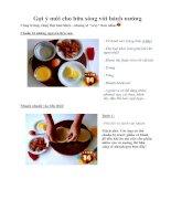 Gợi ý mới cho bữa sáng với bánh nướng
