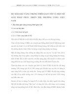 DỰ BÁO GIÁ VÀNG TRONG THỜI GIAN TỚI VÀ MỘT SỐ GIẢI PHÁP PHÁT TRIỂN THỊ TRƯỜNG VÀNG VIỆT NAM