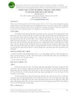 THIẾT KẾ VƯỜN DI ĐỘNG TRONG NHÀ PHỐ Ở THÀNH PHỐ HỒ CHÍ MINH