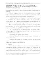GIẢI PHÁP NÂNG CAO HIỆU QUẢ SẢN XUẤT KINH DOANH CỦA CÔNG TY CỔ PHẦN XÂY DỰNG VÀ PHÁT TRIỂN CƠ SỞ HẠ TẦNG