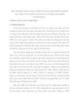 MỘT SỐ KIẾN NGHỊ  TRONG CÔNG TÁC XÁC ĐỊNH PHÍ BẢO HIỂM VẬT CHẤT XE CƠ GIỚI TẠI CÔNG TY CỔ PHẦN BẢO HIỂM PETROLIMEX